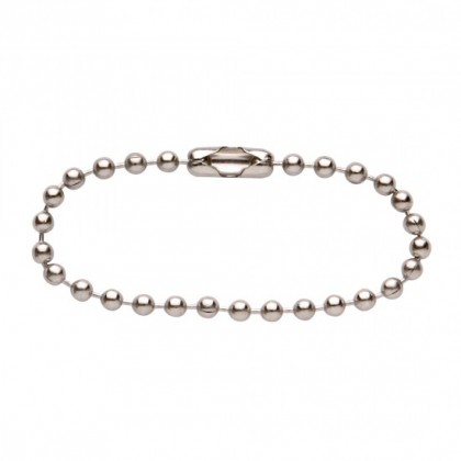 50PCS Stainless Steel 10cm Length Beaded Ball Chain Ball Bead Chain Connector Jewelry Diy Making Key Chain