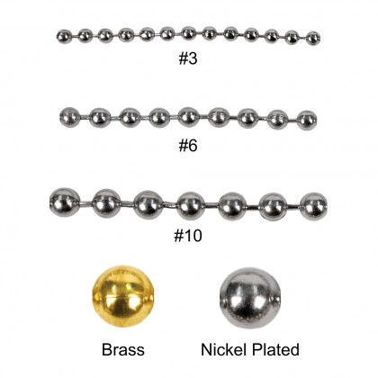 2PCS (One Pair) Stainless Steel Ball Bead Chain Necklace Gold Plated