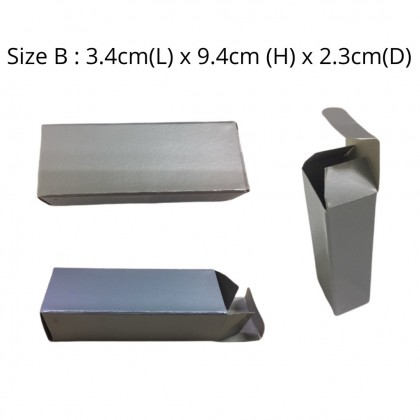 20pcs/Lot Silver Kraft Paper Gift Box Packaging many sizes ready made packing paper box