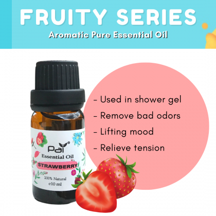 PAI Fruity Series Aromatic Strawberry 100% Pure Essential Oil Best for Diffuser and Aromatherapy  - Strawberry Essential Oil 10ml
