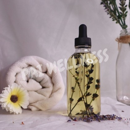 PAI Aromatherapy Lavender Massage Oil for Face Hair Nail Body - 100% Natural Massage Oil Base Oil Essential Oil