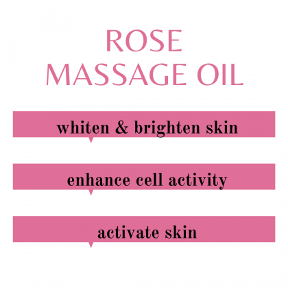 PAI Aromatherapy Rose Massage Oil for Face Hair Nail Body - 100% Natural Massage Oil Base Oil Essential Oil