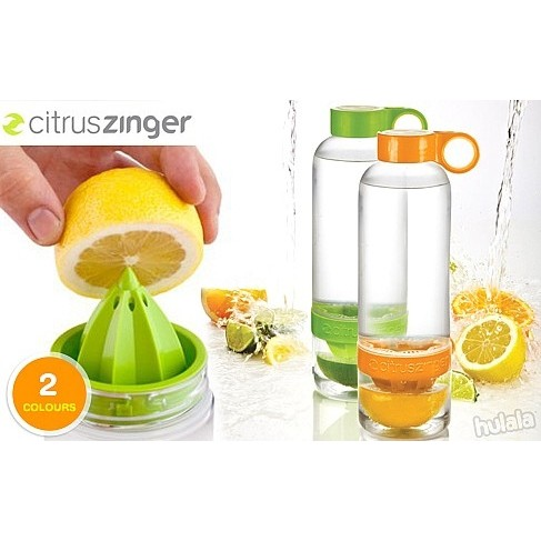 Citrus Zinger Water Bottle Juicer BPA/EA Free High Quality Food Grade PP Non Toxin Safe use Dishwasher Ready stock