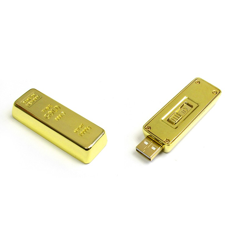 Summerstar Flash Ideas Gold Bar 8GB 4GB Thumb Drive Pen Drive Flash Drive (CWU605) OEM Wholesale