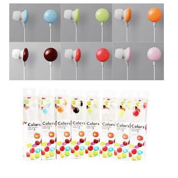 2PCS/ Lot Candy Earphone Wired In-ear Headphones Earbuds Easy to Carry buy 1 free 1 promotion