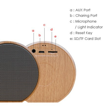 Wood Design Bluetooth Speaker - Mini Portable Rechargeable Wireless Bluetooth Speaker with Built-in Micropho