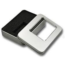 5PCS/ LOT Metal Tin Box Silver Color With Sponge Transparent Window Metal Box Ready Stock in Malaysia